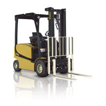 Electric forklift / ride-on / outdoor / 4-wheel