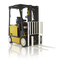 Electric forklift / ride-on / for the food industry / handling