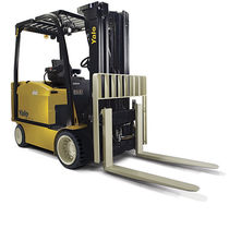 Electric forklift / ride-on / for warehouses / industrial