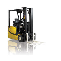Electric forklift / ride-on / for warehouses / for containers