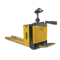 Electric pallet truck / with rider platform / handling / transport