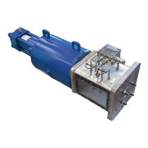 Hydraulic valve actuator / in-line / double-acting / single-acting