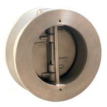Dual plate check valve / wafer / for gas / for liquids