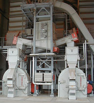 Impact mill / vertical / for wood / double