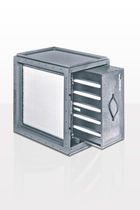 Activated carbon filter housing / HEPA / for air / steel