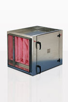 Pleated filter box / for air / steel