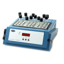 Warming dry block heater / laboratory test tube / for test tubes / for cuvettes