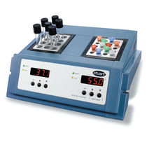 Double dry block heater / for test tubes / digital