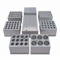 Laboratory test tube heating block