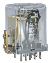 Plug-in electromechanical relay / compact / DIN rail / power
