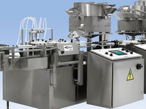 Rotary filler and capper / automatic / continuous-motion / for liquids