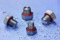 Threaded plug / toroidal / metal / leak-proofing