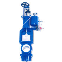 Knife gate valve / with handwheel / control / for slurry