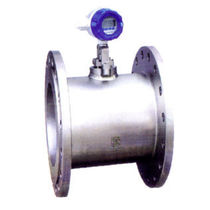 Vortex flow meter / for gas / for liquids / compact