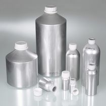 Cylindrical vial / aluminum / with cap / for laboratories