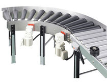Driven roller conveyor / horizontal / curved / transport