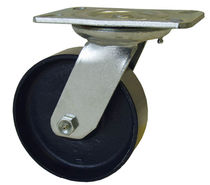 Swivel caster / base plate / high load capacity / steel