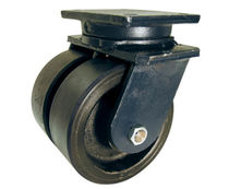 Swivel caster / base plate / high load capacity / double