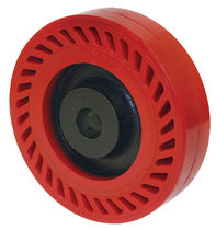 Wheel with solid tire / polyurethane-coated / shock absorbing