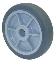 Wheel with solid tire / rubber / polypropylene