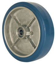 Wheel with solid tire / rubber / aluminum / for heavy loads