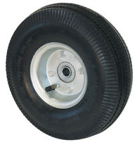 Wheel with pneumatic tire / rubber / shock absorbing