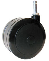 Swivel caster / rod / with brake / twin