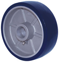 Wheel with solid tire / polyurethane-coated / aluminum / non-marking