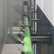 Water pipes / aluminum / with nozzles / modular