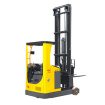 Electric reach truck / side-facing seated / handling / 3-wheel
