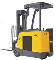 Electric forklift / stand-on / narrow-aisle / handling