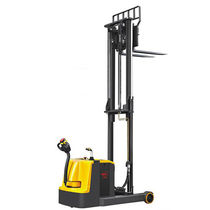 Electric stacker truck / walk-behind / for warehouses / narrow-aisle