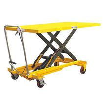 Scissor lift table / hydraulic / manual / mobile