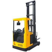 Electric reach truck / side-facing seated / for warehouses / handling