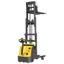 Electric stacker truck / walk-behind / transport / double-pallet