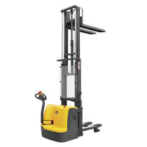 Electric stacker truck / walk-behind / for warehouses / double-pallet