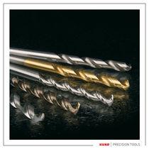 Solid drill bit / for plastics / for aluminum / for brass