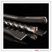 Solid drill bit / masonry / carbide / for hammer drills
