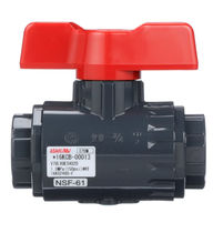 Ball valve / manual / control / for wastewater