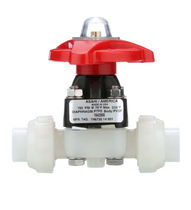Diaphragm valve / manual / control / for slurry