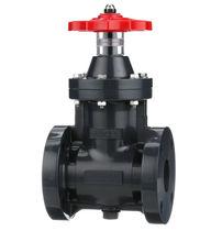 Gate valve / manual / flange / in plastic
