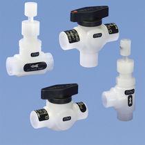 Ball valve / manual / PVDF / for process applications