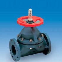Diaphragm valve / manual / flow control / for slurry