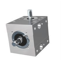 Bevel gear reducer / orthogonal / for shafts / precision