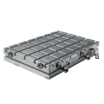 Electro-permanent magnetic chuck / rectangular / for milling / with T-slots