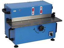 Sheet metal deburring machine / stationary / straight edges / double-sided