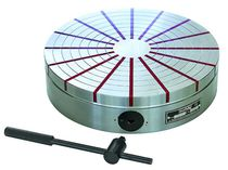 Round magnetic chuck / manual / with radial pole pitch