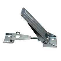 Stainless steel draw latch / zinc-coated steel / rigid / with constant fastening