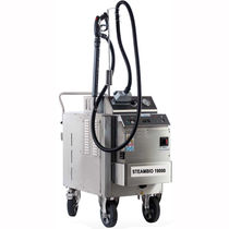 Steam cleaner / three-phase / mobile / stainless steel