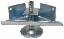 Furniture foot / steel / leveling / threaded
